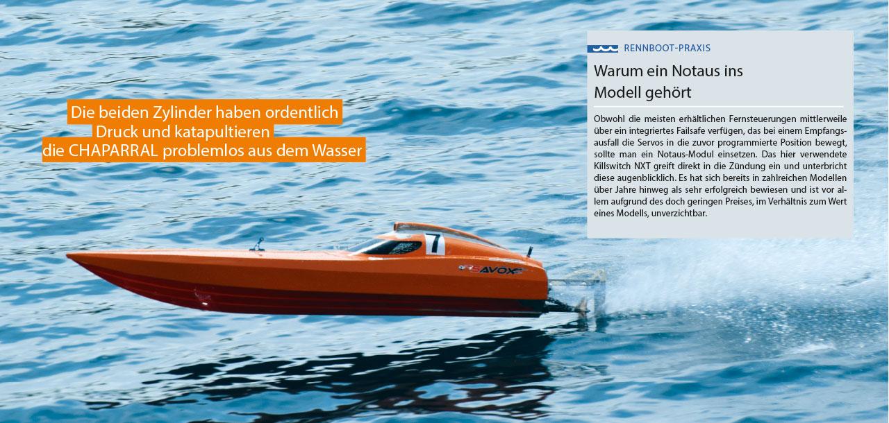 Aufbau MHZ Chaparral mit einem Zweizylinder | MHZ Powerboats